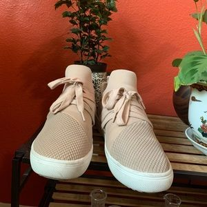 Baby pink sneakers